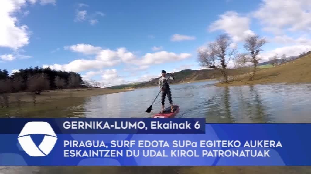 Piragua Surf edota SUPa egiteko aukera eskaintzen du Udal Kirol Patronatuak