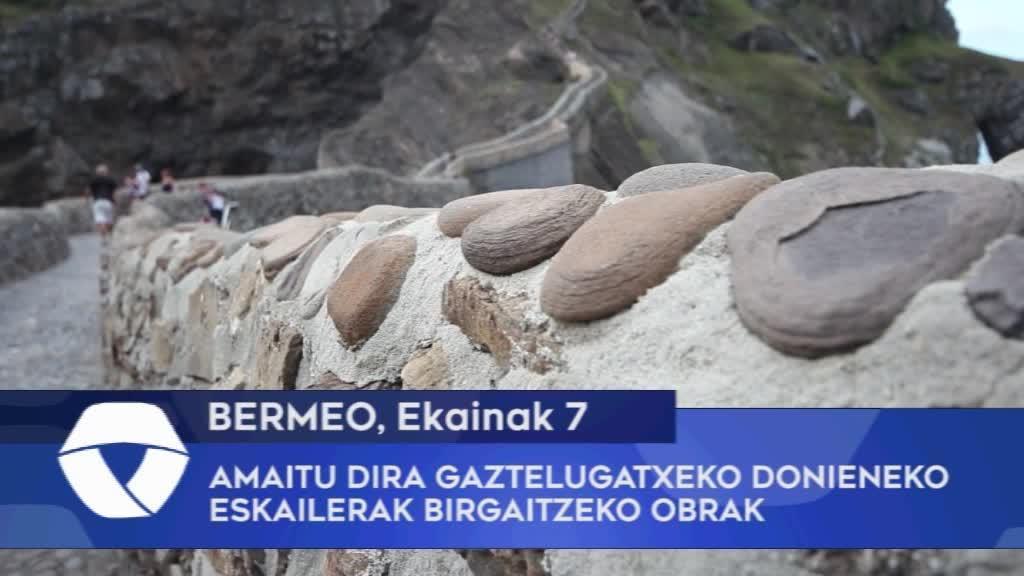 Amaitu dira Gaztelugatxeko Donieneko eskailerak birgaitzeko obrak