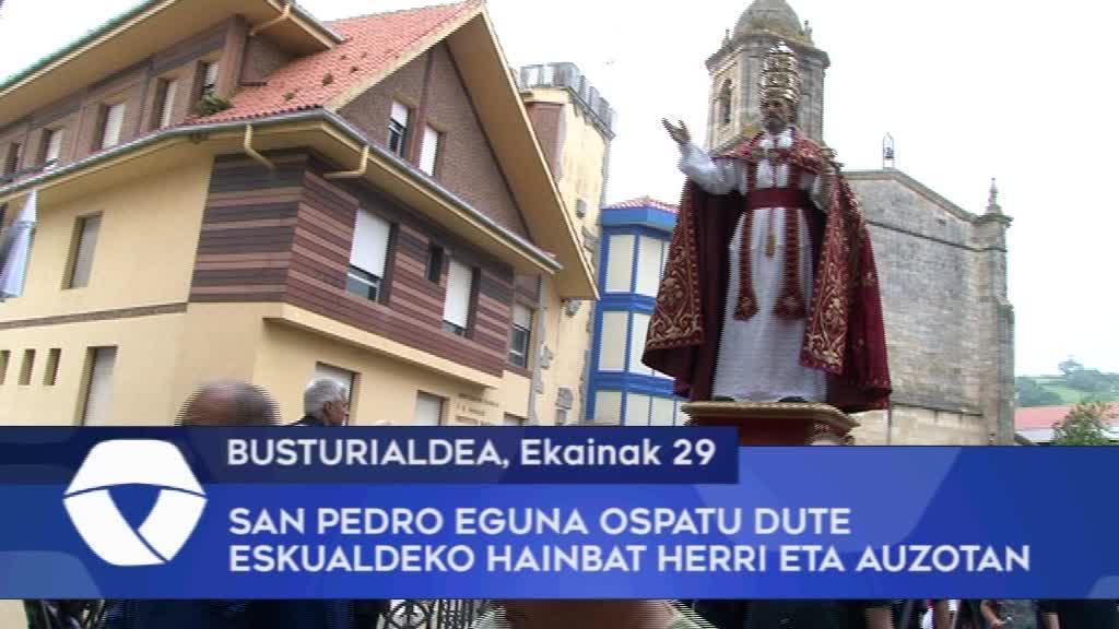 San Pedro eguna ospatu dute Busturialdeko hainbat herri eta auzotan
