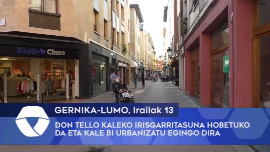 Don Tello kaleko irisgarritasuna hobetuko da eta kale bi urbanizatu egingo dira