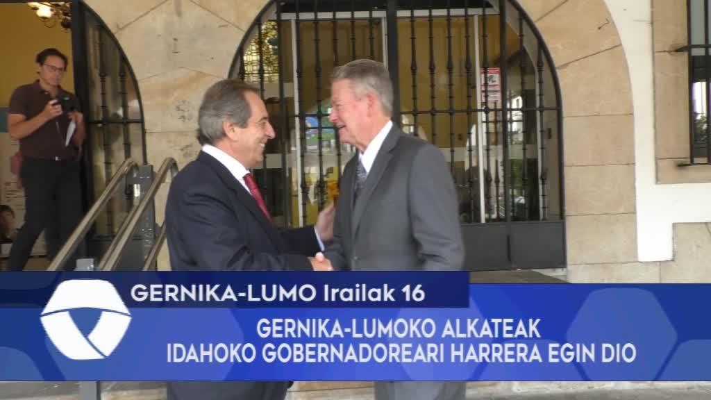 GERNIKA-LUMOKO ALKATEAK IDAHOKO GOBERNADOREARI HARRERA EGIN DIO