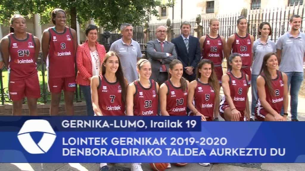 Lointek Gernikak 2019-2020 denboraldirako taldea aurkeztu du