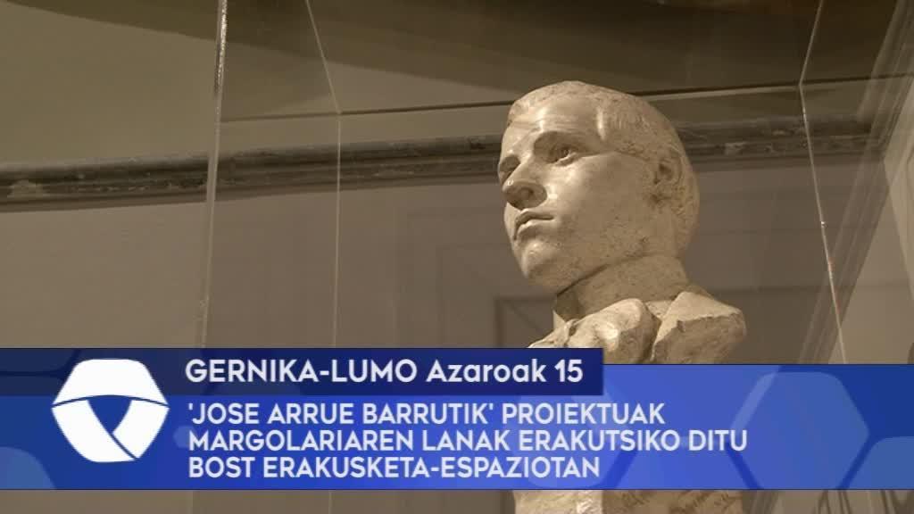 'Jose Arrue Barrutik' proiektuak margolariaren lanak erakutsiko ditu Bizkaiko bost erakusketa-espaziotan