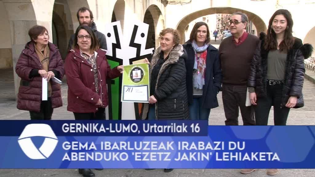 Gema Ibarluzeak irabazi du abenduko Ezetz Jakin lehiaketa