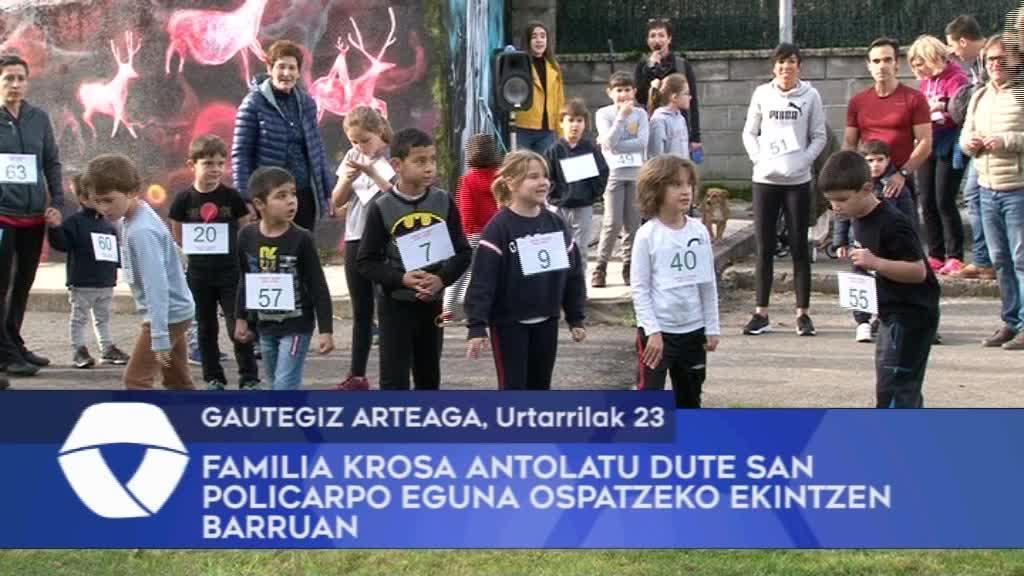 Familia Krosa antolatu dute Gautegiz Arteagan San Policarpo eguna ospatzeko ekintzen barruan