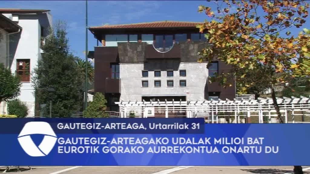 Gautegiz-Arteagako Udalak milioi bat eurotik gorako aurrekontua onartu du
