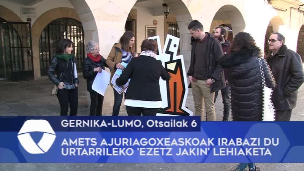 Amets Ajuriagoxeaskoak irabazi du urtarrileko 'Ezetz Jakin' lehiaketa