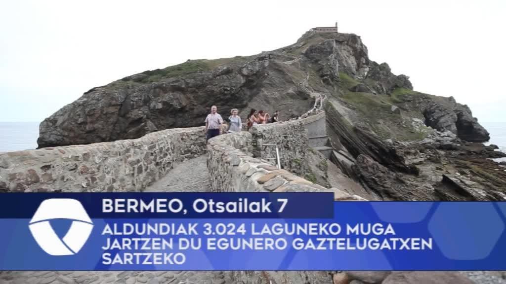 Bizkaiko Foru Aldundiak 3.024 laguneko muga jartzen du egunero Gaztelugatxen sartzeko