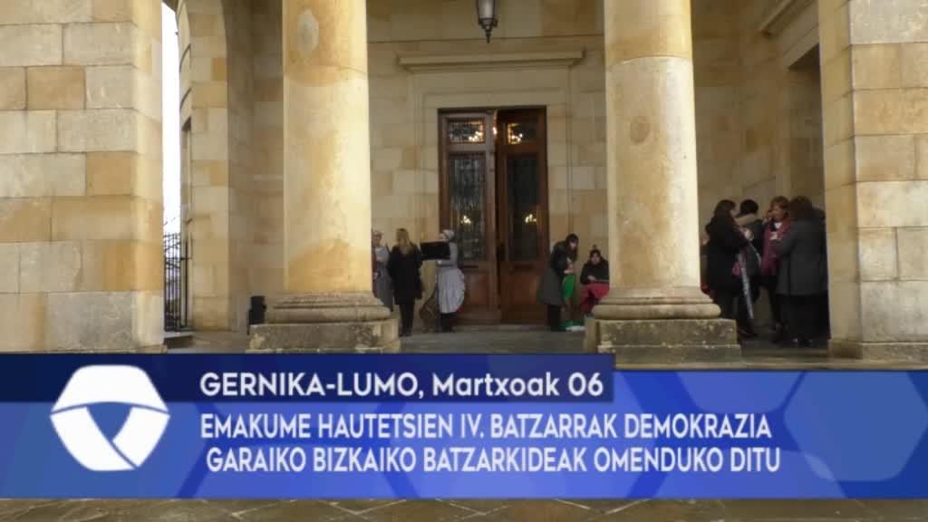 EMAKUME HAUTETSIEN IV. BATZARRAK DEMOKRAZIA GARAIKO BATZARKIDEAK OMENDUKO DITU