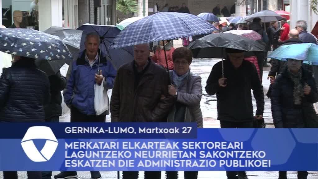 Gernika-Lumoko Merkatari Elkarteak sektoreari laguntzeko neurrietan sakontzeko eskatzen die admnistrazio publikoei
