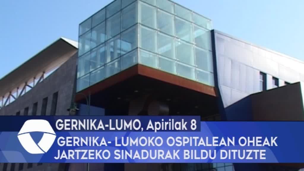 Gernika-Lumoko ospitalean oheak jartzeko sinadurak bildu dituzte