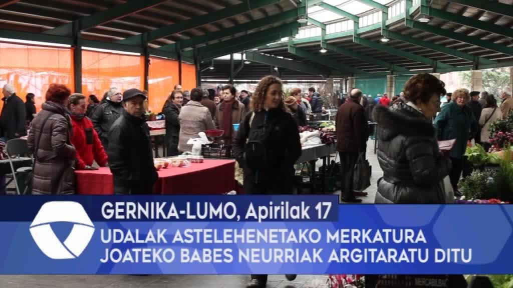 Gernika-Lumoko Udalak astelehenetako merkatura joateko babes neurriak argitaratu ditu.