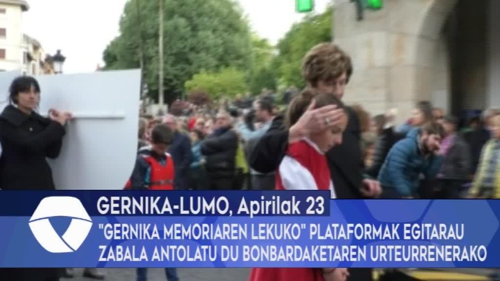"""""""Gernika Memoriren Lekuko"""" plataformak egitarau zabala antolatu du bonbardaketaren urteurrenerako"""