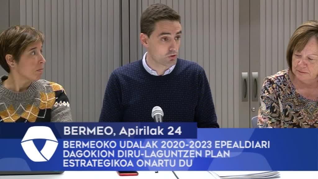 Bermeoko Udalak 2020-2023 epealdiari dagokion diru-laguntzen plan estrategikoa onartu du