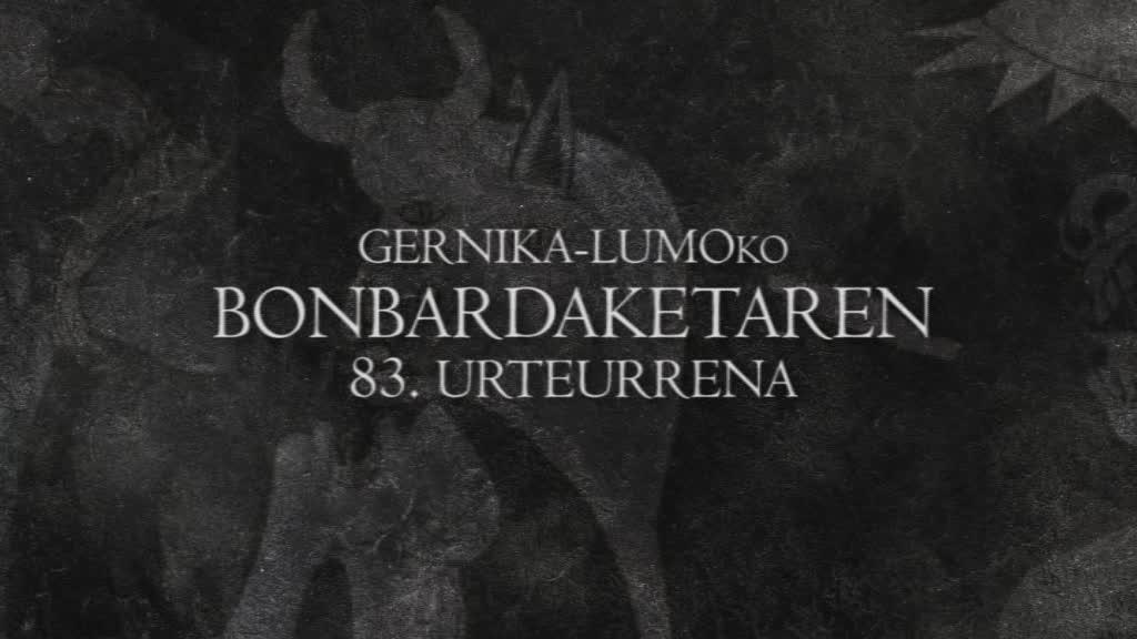 GERNIKA-LUMOKO 83. BONBARDAKETAREN URTEURRENA