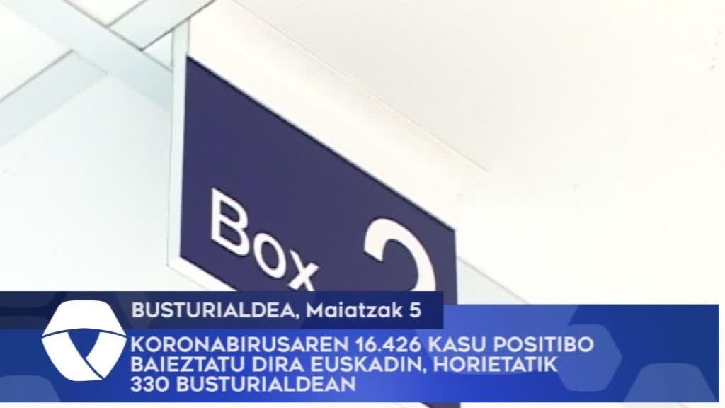 Koronabirusaren 16.426 kasu positibo baieztatu dira Euskadin, horietatik 330 Busturialdean