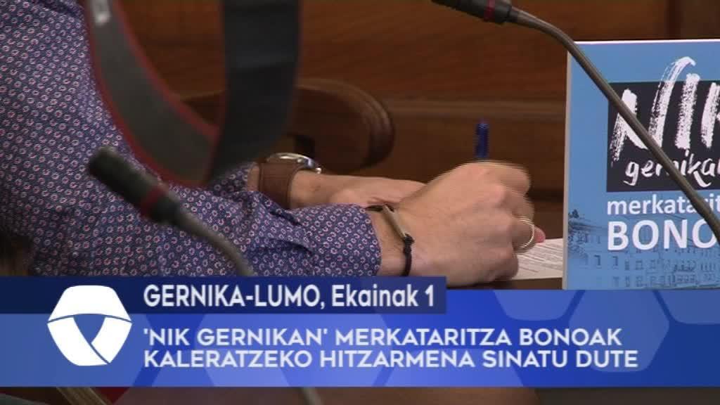 'Nik Gernikan' merkataritza bonoak kaleratzeko hitzarmena sinatu dute