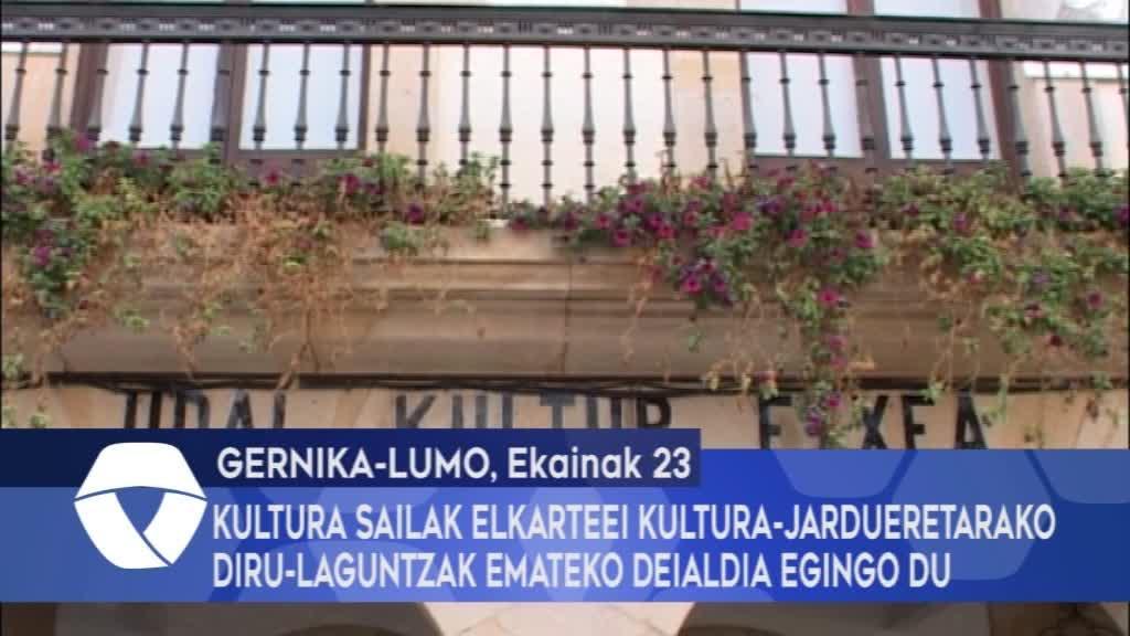 Kultura Sailak elkarteei kultura-jardueretarako diru-laguntzak emateko deialdia egingo du