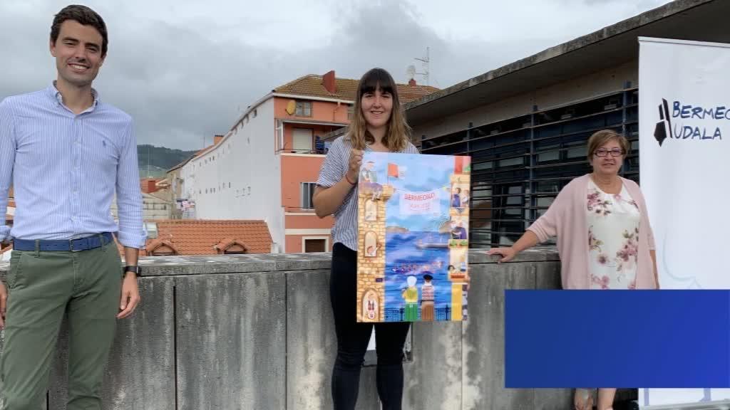 Maitane Marina Lopezen Etxetik at! kartelak irabazi du 2020ko Andra Mari eta Santa Eufemia jaien kartel lehiaketa