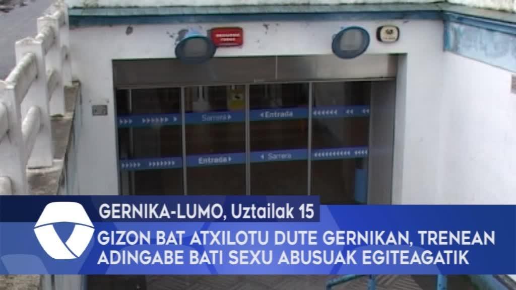 Gizon bat atxilotu dute Gernikan, trenean adingabe bati sexu abusuak egiteagatik