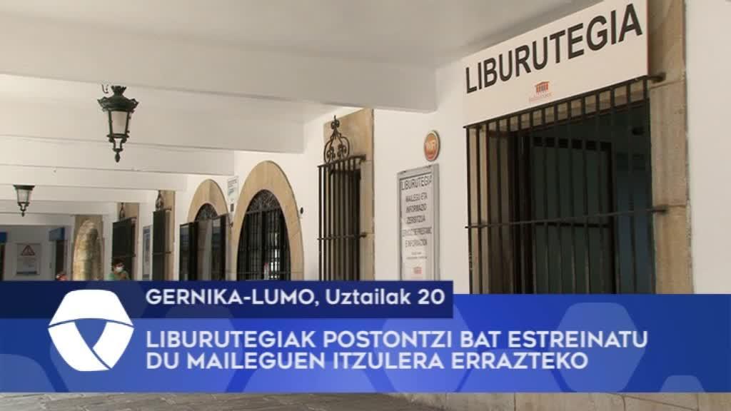 Gernika-Lumoko liburutegieak postontzi bat estreinatu du maileguen itzulera errazteko