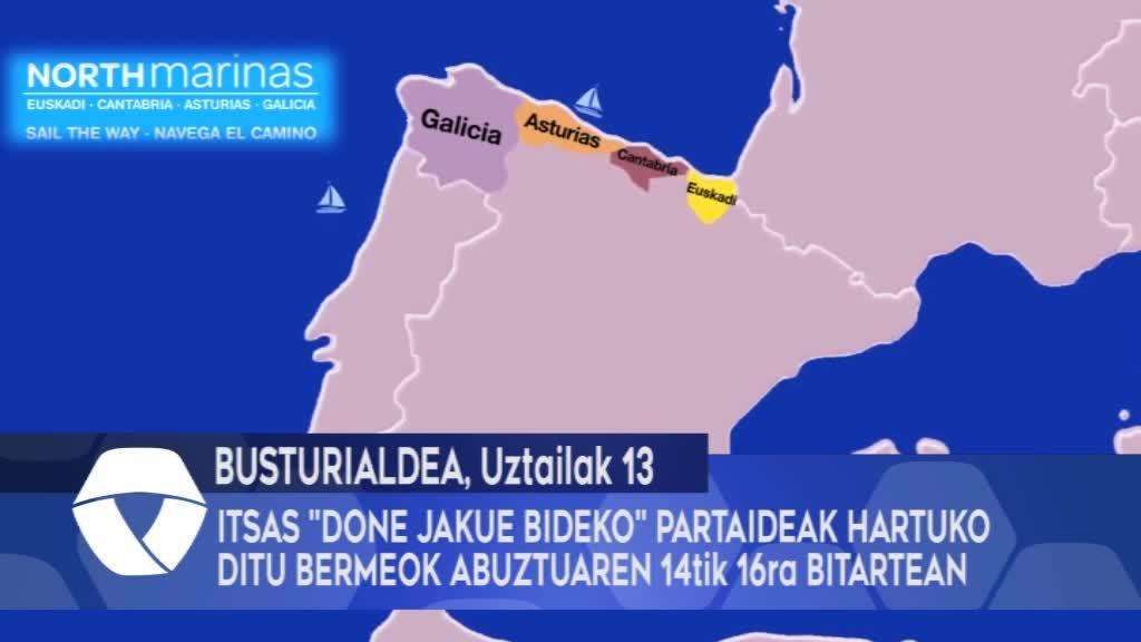 """Itsas """"Done Jakue Bideko"""" partaideak hartuko ditu Bermeok abuztuaren 14tik 16ra bitartean"""