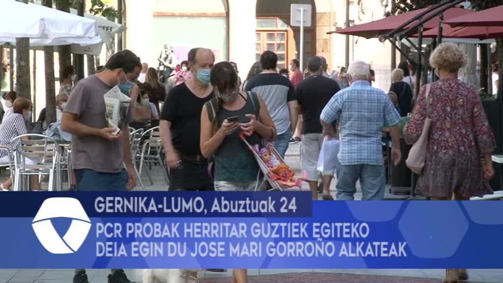 PCR probak herritar guztiek egiteko deia egin du Jose Mari Gorroño alkateak