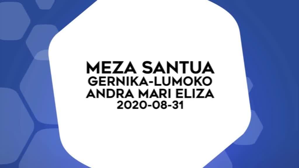 Meza Santua 2020-08-31