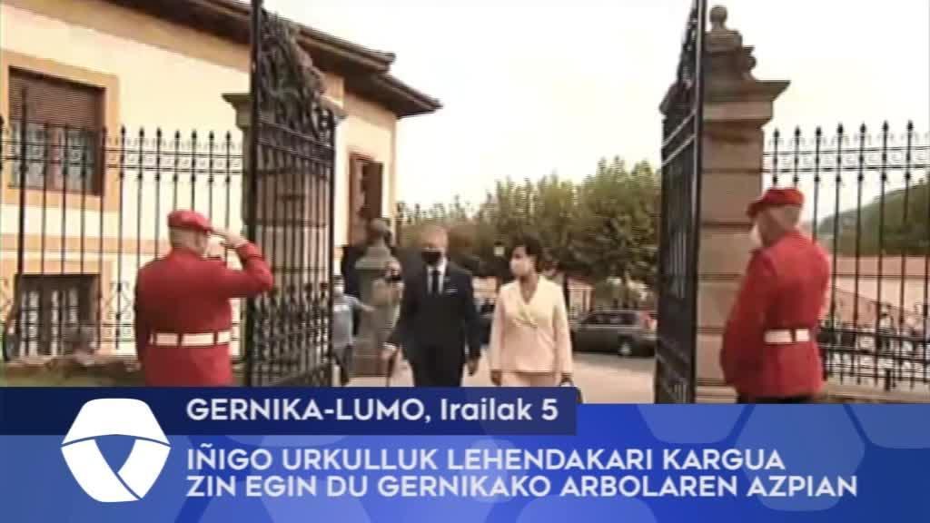 Iñigo Urkulluk Lehendakari kargua zin egin du Gernikako Arbolaren azpian