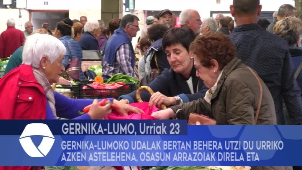 Gernika-Lumoko Udalak bertan behera utzi du Urriko Azken Astelehena osasun arrazoiak direla eta