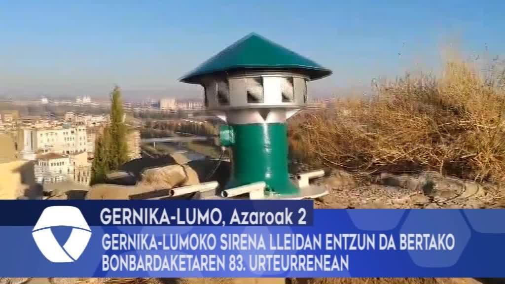Gernika-Lumoko sirena Lleidan entzun da bertako bonbardaketaren 83. urteurrenean