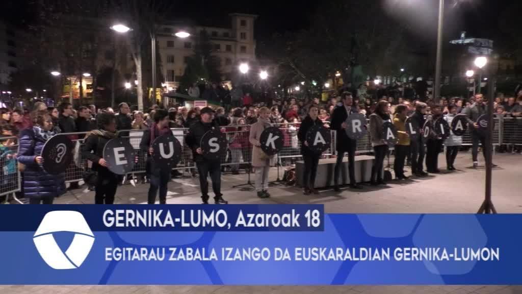 Egitarau zabala izango da Euskaraldian Gernika-Lumon
