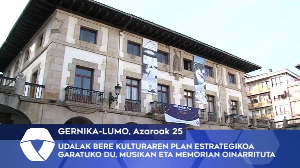 Gernika-Lumoko Udalak bere Kulturaren Plan Estrategikoa garatuko du musikan eta memorian oinarrituta