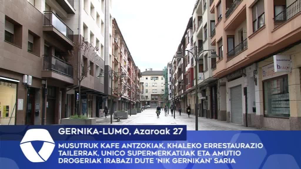 Musutruk Kafe Antzokiak, Khaleko errestaurazio tailerrak, Unico Supermerkatuak eta Amutio Drogeriak irabazi dute 'Nik Gernikan' saria