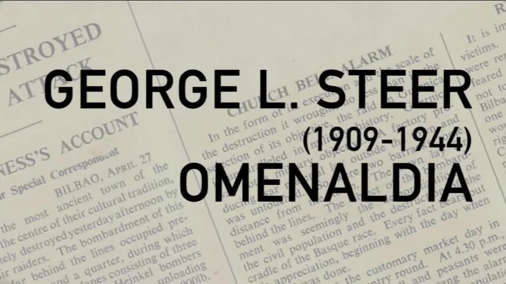 GEORGE L STEER OMENDU DU  GERNIKA MEMORIAREN LEKUKOK