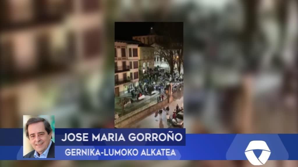 GERNIKA-LUMO Pasilekuko istiluen gainean adierazpenak burutu ditu Jose Maria Gorroño alkateak