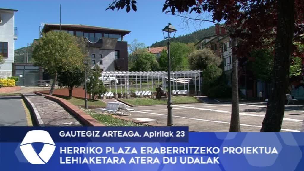 Herriko plaza eraberritzeko proiektua lehiaketara atera du Gautegiz Arteagako Udalak