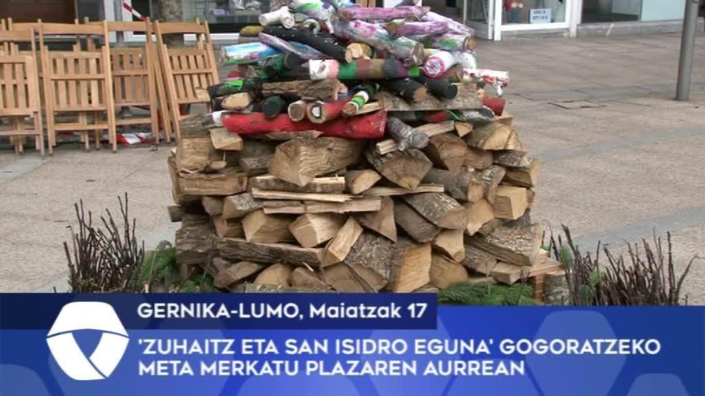 'Zuhaitz eta San Isidro Eguna' gogoratzeko meta Merkatu Plazaren aurrean