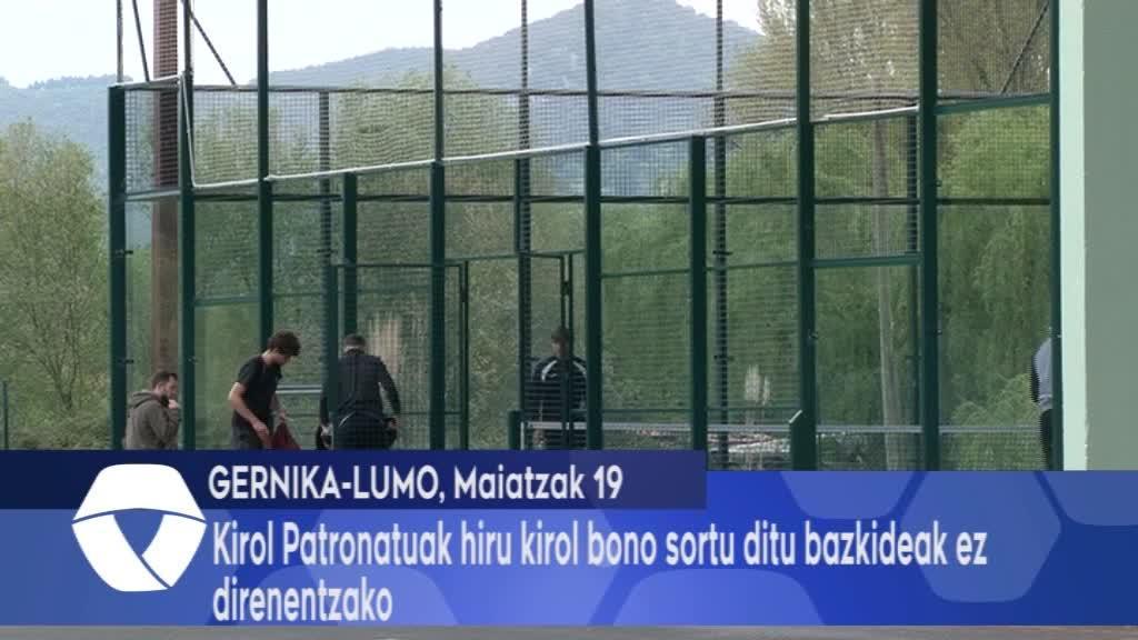 Gernika Kirol patronatuak hiru kirol bono sortu ditu bazkideak ez direnentzako