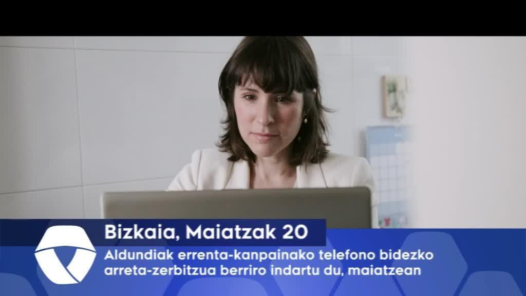 Bizkaiko Aldundiak errenta-kanpainako telefono bidezko arreta-zerbitzua berriro indartu du maiatzean