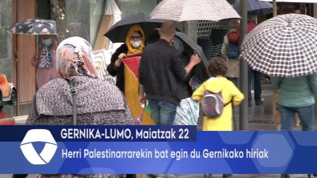 Herri Palestinarrarekin bat egin du Gernikako hiriak