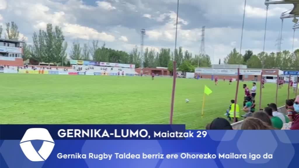 Gernika Rugby Taldea berriz ere Ohorezko Mailara igo da