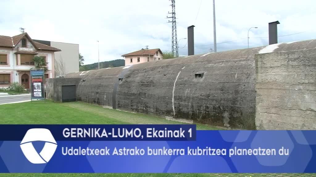 Udaletxeak Astrako bunkerra kubritzea planeatzen du