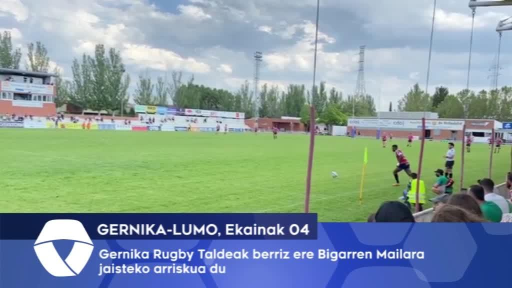 Gernika Rugby Taldeak berriz ere Bigarren Mailara jaisteko arriskua du