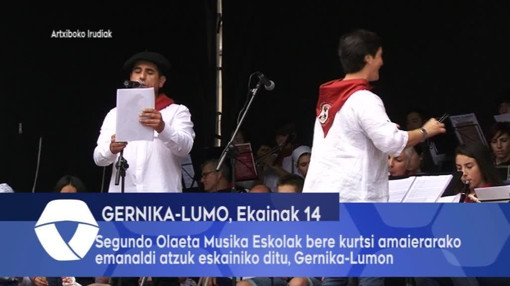 Segundo Olaeta Musika Eskolak bere kurtso amaierarako emanaldi batzuk eskainiko ditu, Gernika-Lumon