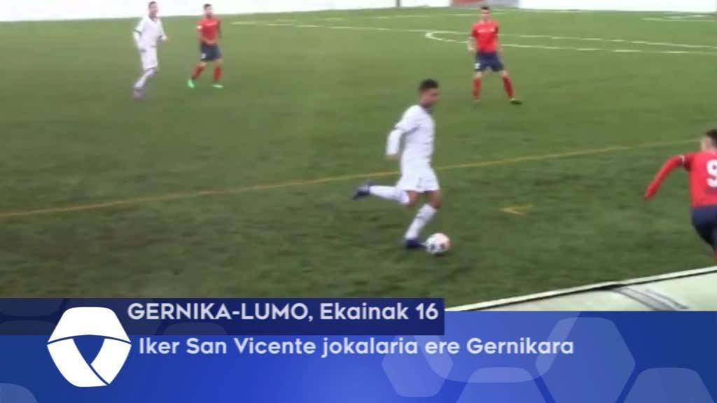 Iker San Vicente jokalaria ere Gernikara