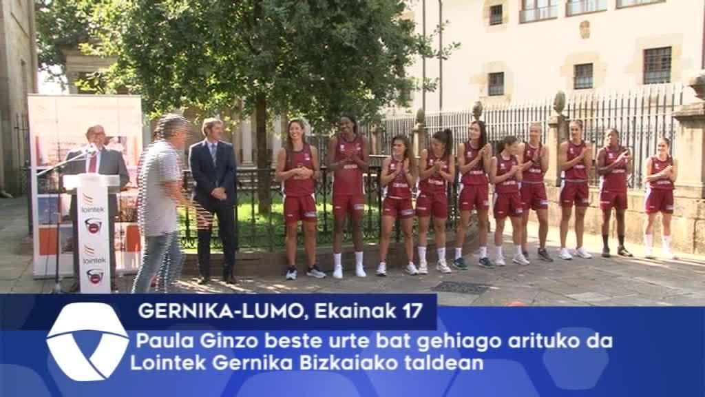 Paula Ginzo beste urte bat gehiago arituko da Lointek Gernika Bizkaiako taldean