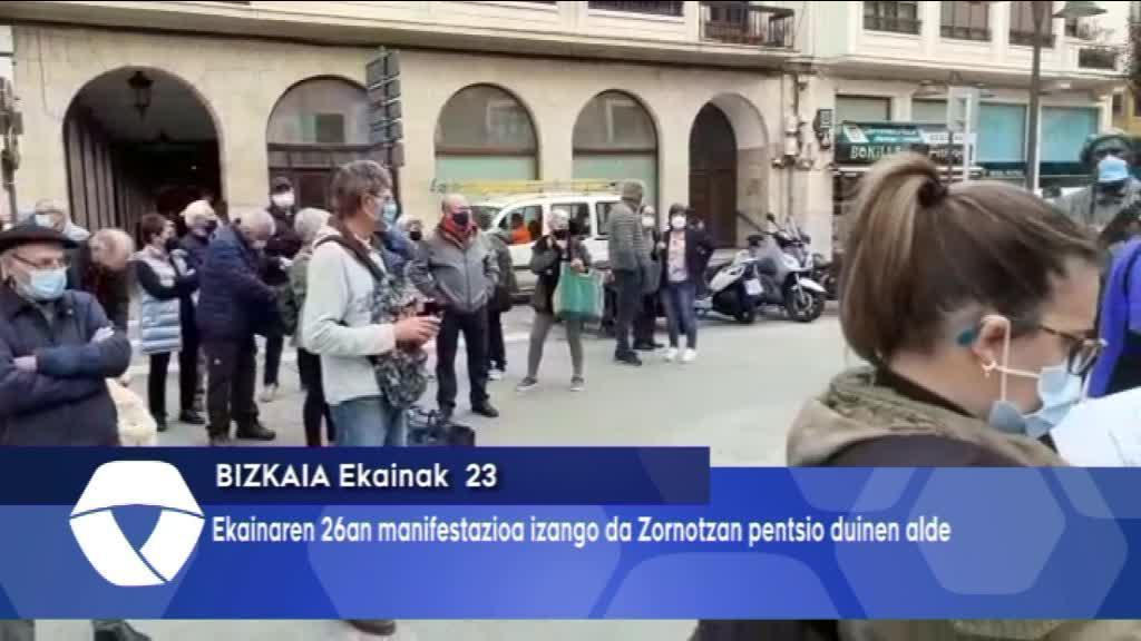 Ekainaren 27an manifestazioa deitu du Pentsiodunen Mugimenduak Zornotzan pentsio duinen alde