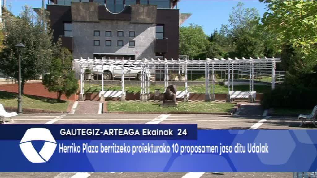 10 Proposamen jaso dira Gautegiz-Arteagako plaza berritzeko proiekturako