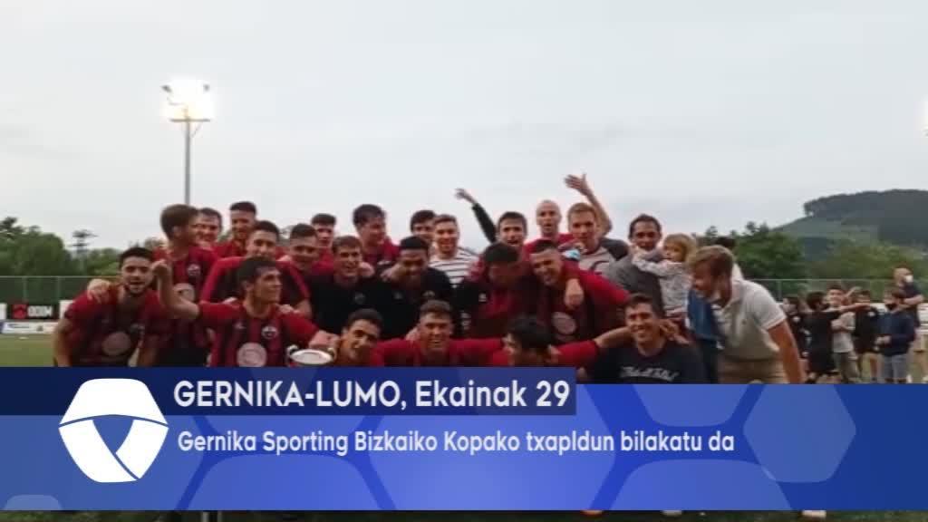 Gernika Sporting Bizkaiko Kopako txapeldun bilakatu da
